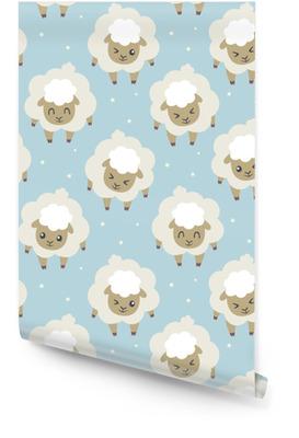 Vector ovejas para dormir sin patrón Rollo de papel pintado