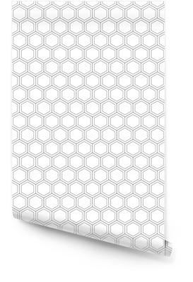 Nid d'abeille seamless pattern.vector illustration.hexagonal texture. grille sur fond blanc. conception géométrique. texture abstraite élégante moderne. modèle pour impression, textile, emballage et décoration Rouleau de papier peint