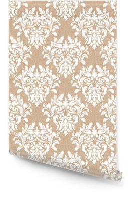 Vektori damastin saumaton kuvio tausta. klassinen ylellisyyttä vanhanaikainen damask-ornamentti, kuninkaallinen viktoriaaninen saumaton rakenne taustakuville, tekstiili, kääre. hieno kukka barokki malli Rullatapetti
