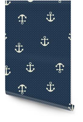 Vector hand drawn anchor seamless pattern Wallpaper Roll