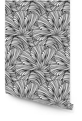 Fantasie dekorativen schwarzen und weißen nahtlose Muster Tapetenrolle