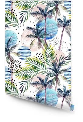 Abstract summer geometric seamless pattern. Wallpaper Roll