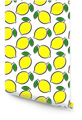 Sfondo giallo limone brillante Rotolo di carta da parati
