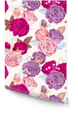 Belles roses sans soudure Rouleau de papier peint