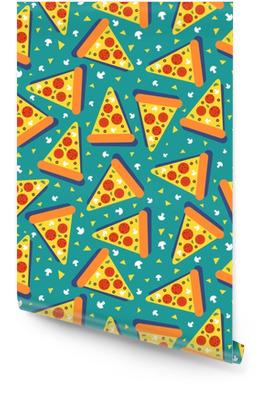 Pizza naadloos Behangrol