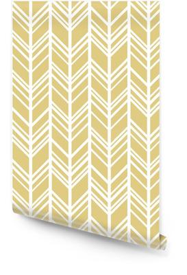 Chevron achtergrond in goud en wit. naadloze vector patroon Behangrol