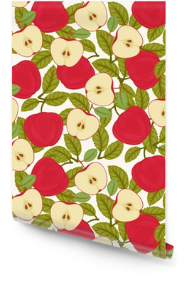 Seamless apple pattern Wallpaper roll