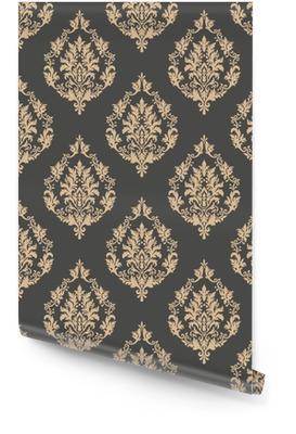 Vector damasco sin fisuras de fondo. ornamento clásico antiguo damasco de lujo, textura transparente victorian real para fondos de pantalla, textil, embalaje. exquisita plantilla floral barroca Rollo de papel pintado