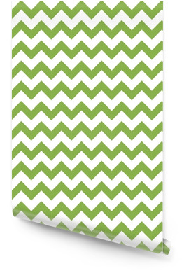 Green spring chevron seamless pattern background, illustration. Trendy color 2017, wrapping paper design Wallpaper Roll