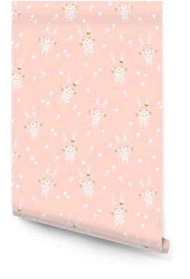 abaf93156f63 Påsk sömlösa mönster design med kaniner. lätt baby print för barn tyg eller  presentpapper.