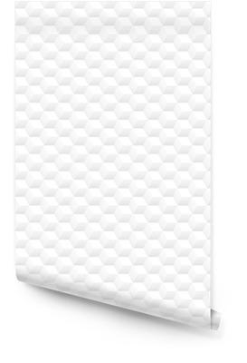 Minimalistic clean white 3d cubes vector seamless pattern background design Rollo de papel pintado