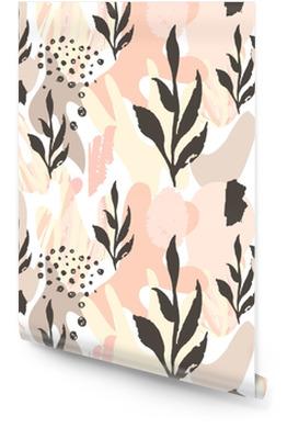 Abstract naadloos patroon. hand getrokken texturen. penseelstreken in pastel kleuren en takken .vector. covers, flyers, banners, presentaties, boeken, notitieboeken. Behangrol