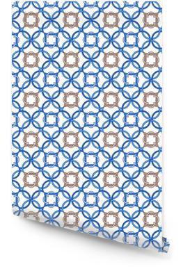 Portugese tegels, vierpas naadloze patroon. vectorillustratie Behangrol