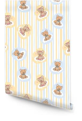 eadf7b7e3124 Sömlöst mönster för baby bakgrund med björnar Rulltapet
