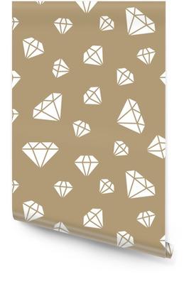 Mücevher dikişsiz desen, elmas çizgi illüstrasyon. pırlantaların vektör simgeleri. moda mağaza altın yinelenen arka plan. Rulo Duvar Kağıdı