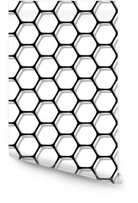 Modèle d'hexagones sans soudure. Rouleau de papier peint