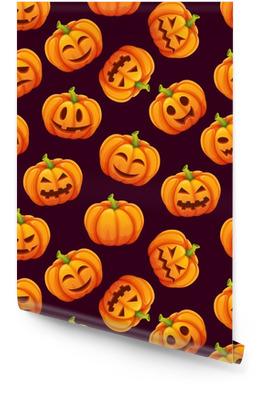 Halloween szwu z różnych zabawnych emocji dynie Tapeta w rolce