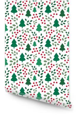 Eindeloos Kerstmispatroon met Kerstmisbomen Behangrol