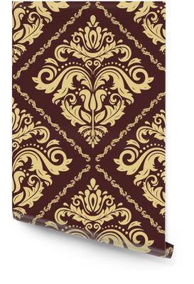 Modello classico d'oro senza soluzione di continuità. ornamento tradizionale orient. sfondo vintage classico Rotolo di carta da parati