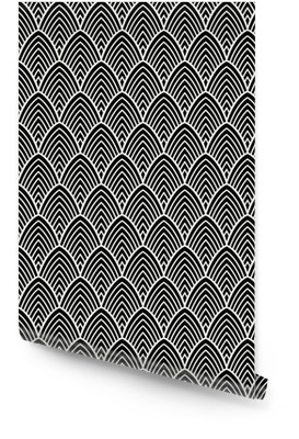 Padrão artístico de art deco vintage. textura decorativa geométrica. Rolo de papel de parede