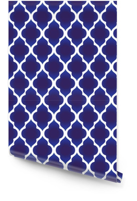 blue and white Islamic pattern Wallpaper Roll