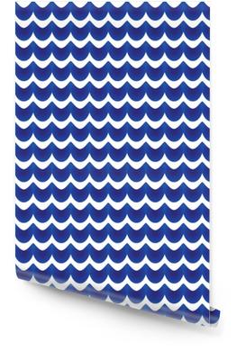Motif abstrait bleu et blanc Rouleau de papier peint