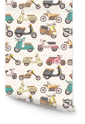 Naadloze motorfiets patroon Behangrol