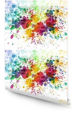 Raster version du Résumé de fond éclaboussure colorée Rouleau de papier peint