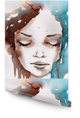Winter, cold portrait Wallpaper roll