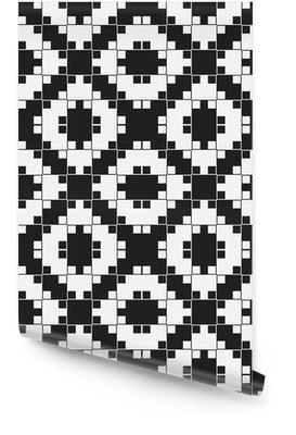Noir et Blanc Illusion optique, vecteur Seamless. Rouleau de papier peint