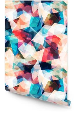 Kolorowe mozaiki szwu z mocą grunge Tapeta w rolce