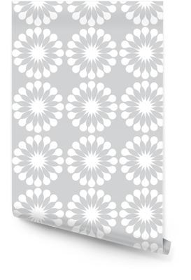 Witte paardebloemen bloemen naadloze patroon Behangrol