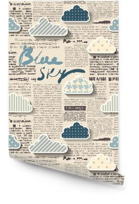 Zeitung mit Wolken. Tapetenrolle