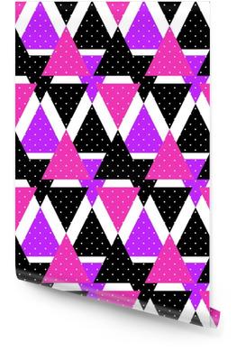 Triângulo transparente triângulo brilhante padrão geométrico abstrato t Rolo de papel de parede