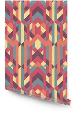abstract retro geometric pattern Wallpaper Roll