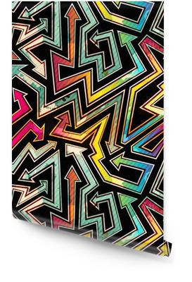 urban arrow seamless pattern with grunge effect Wallpaper roll