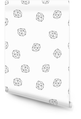 Abstrakt polygoner sømløs mønster Tapetrulle
