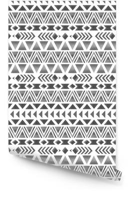 Modello etnico senza soluzione di continuità. stampa acquerello geometrica Rotolo di carta da parati