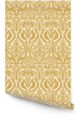 Vector seamless floral damask pattern vintage abstract backgroun Wallpaper roll