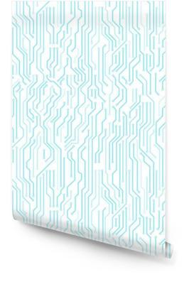 Placa de circuito patrón transparente. alta tecnología digital del estilo vector de fondo brillante. Rollo de papel pintado