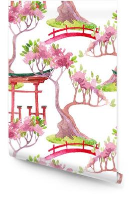Japanese seamless pattern Wallpaper Roll