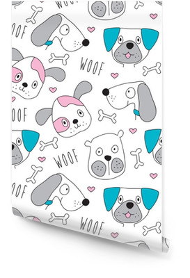 seamless dog pattern vector illustration Wallpaper Roll
