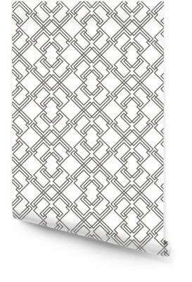 Geometrisches abstraktes nahtloses Muster. linearer Motivhintergrund Tapetenrolle