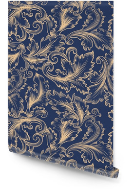 Vector seamless pattern in Baroque style. Vintage background for invitation, fabrics Wallpaper Roll