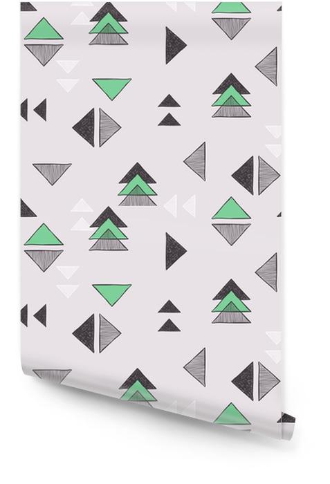 Seamless triangles dessinés à la main. Rouleau de papier peint - Ressources graphiques