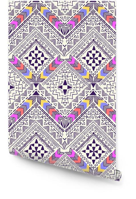 Diseño geométrico tribal agradable ~ fondo transparente Rollo de papel pintado - Recursos gráficos