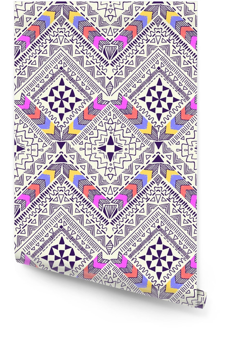 Cool tribal geometric design ~ seamless background Wallpaper roll - Graphic Resources