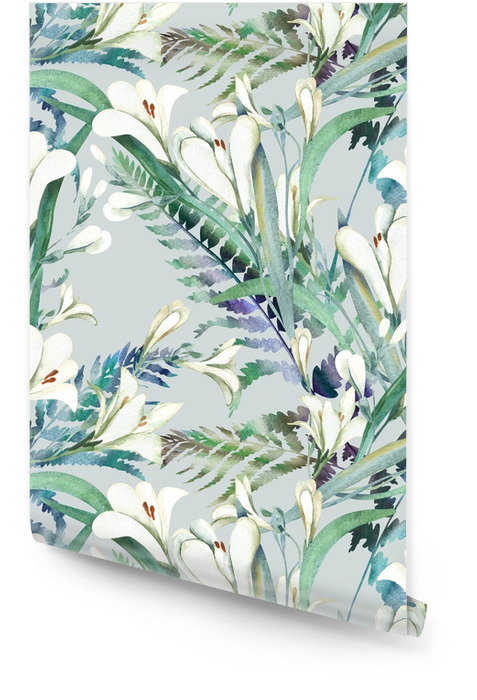 Szwu z crocosmia Kwiaty Tapeta w rolce - Rośliny i kwiaty