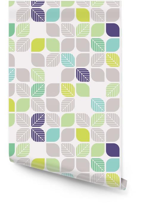 Bezproblemowa geometryczny wzór z liści Tapeta w rolce - Zasoby graficzne