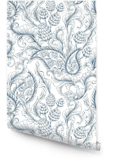 Seamless floral ornament Wallpaper roll - Plants and Flowers